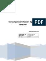 Manual Para Certificación Digital en AutoCAD