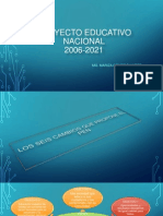 Pro Yec to Educa Tivo Nacional