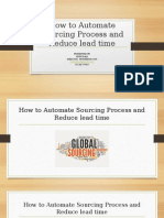 Automating Sourcing Process and reducing Lead time