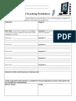 reciprocalteaching worksheet