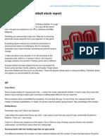 Fantasy Football Stock Report