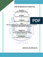 Protocolo de Investigación Lixiviados, Trabajo Final