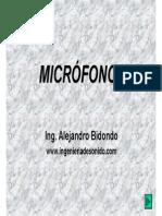 Micrófonos Por Ing. Alejandro Bidondo