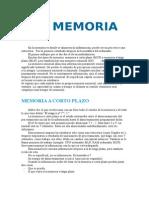 La Memoria - Trabajo de Psicología