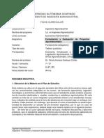 Formulacion y Evaluacion de Proyectos Agroindustriales CHAPINGO