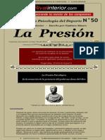 Cuadernos de Psicología Del Deporte #50, La Presión