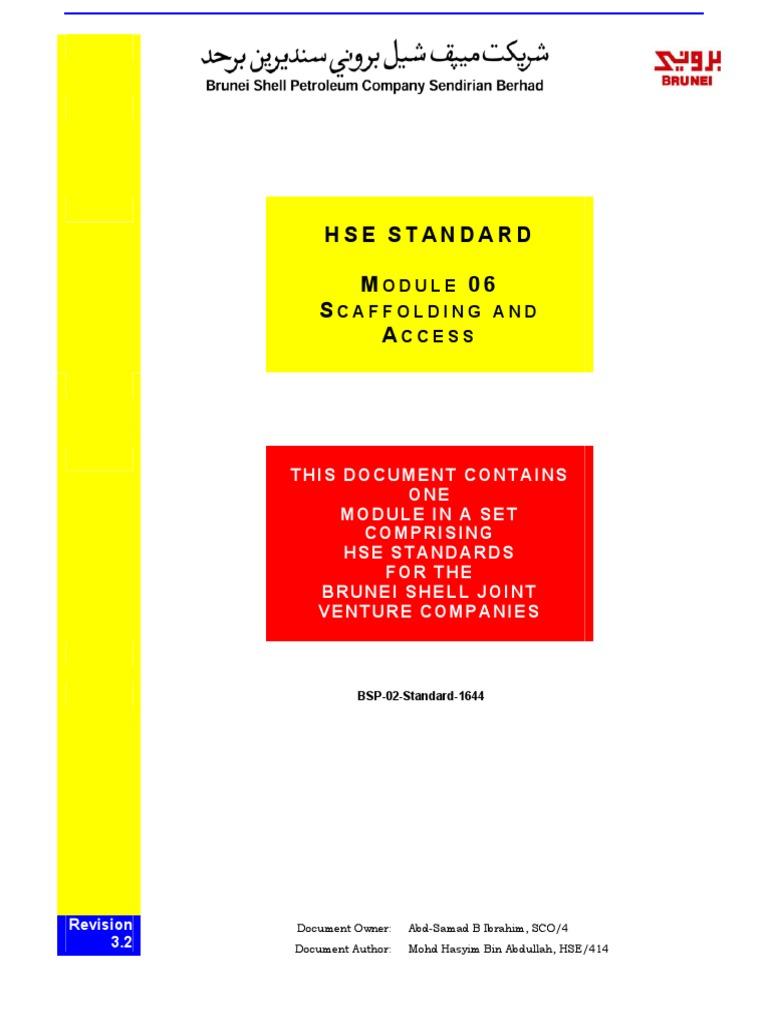 BSP-02-Standard-1644 - Scaffolding & Access (Mod 06, Rev  3 2