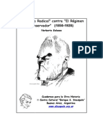 Galasso La Causa Radical Contra El Regimen Conservador 1850 1928
