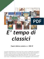 Progetto biblioteca 2008-2009- E' tempo di classici