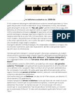 Progetto biblioteca 2005-2006 - Non solo carta