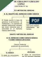 Lectura Nº 14 de Giraldo y Giraldo López
