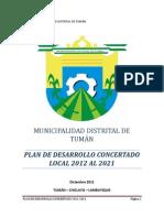PLAN 11421 Plan de Desarrollo Local Distrital Al 2021 2012