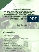 La Integración de las TICs para reforzar la Cultura Aymara  (Luis Carvajal)