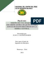 Plan de Tesis Escarificadora de Quinua