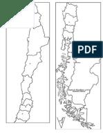 Mapa de Chile Para Pintar