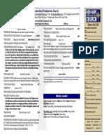 July 27, 2014 Worship Bulletin