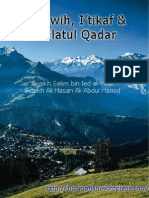Shalat Tarawih, I'Tikaf & Lailatul Qadar