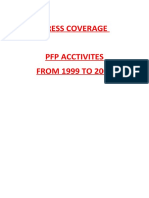 Press Coverage Pfp Acctivites From 1999 to 2004