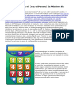 Cómo Configurar el Control Parental En Windows 8h
