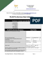 Wlan Pre-survey Data Collection Tool[1]