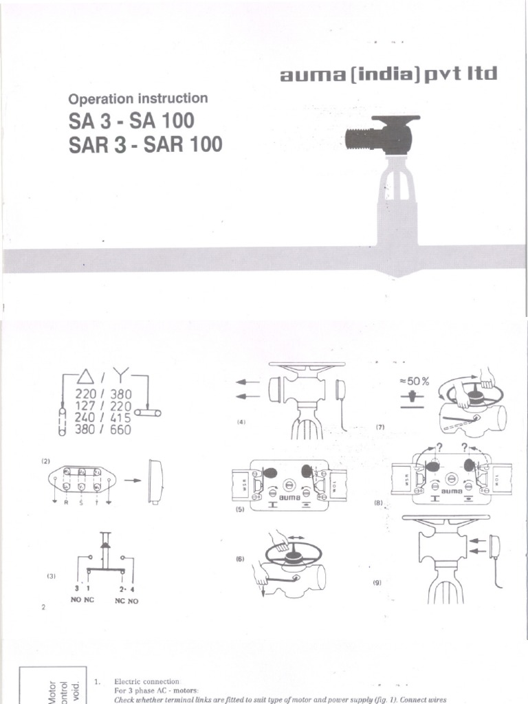 Auma Valve Actuator Contactor Diagram Trusted Wiring Diagrams Sa101 Schematic Actuators Block India Automotive
