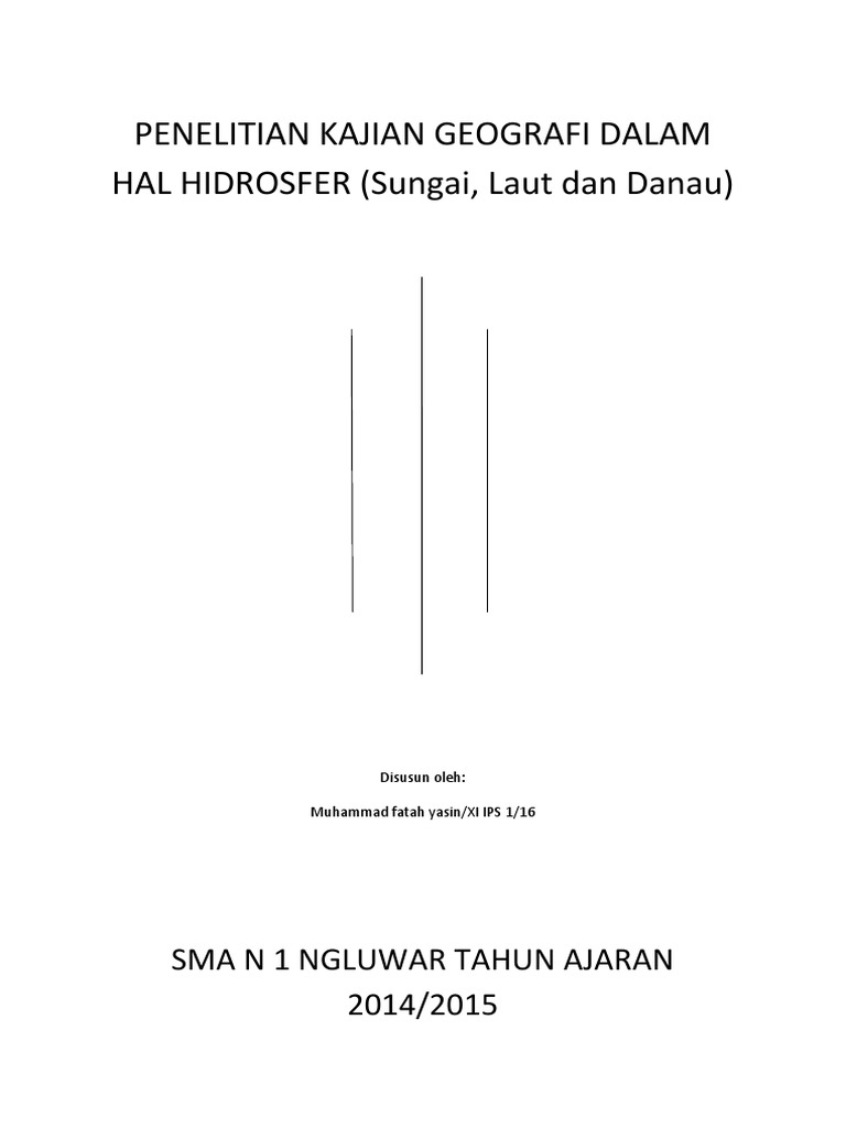 Penelitian Kajian Geografi Dalam Hal Hidrosfer