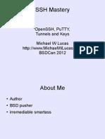 SSH Mastery BSD