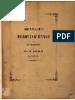Monnaies mèrovingiennes de la collection de feu M. Renault de Vaucouleurs