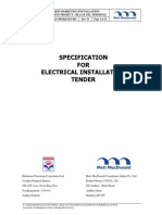 2.1 - Specification for Electrical Installation Tender