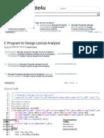 C Program to Design Lexical Analyzer