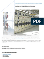 Testing and Commissioning of MetalClad Switchgear