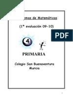 Coleccion de Problemas de Matematicas 4EP (1EV)