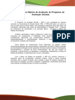 Matriz de Objeto de Avalia o Do PAS Primeira Etapa Subprograma 2014-2016