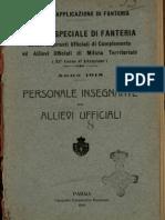 2° Corso speciale di fanteria, allievi aspiranti ufficiali di complemento ed allievi ufficiali di milizia territoriale (9° corso d'istruzione) - anno 1918 - personale insegnante ed allievi ufficiali