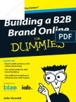 Building a B2B  Brand online  for Dummies