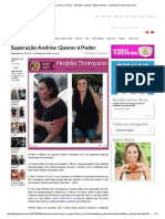 Superação Andréa_ Querer é Poder - Michelle Franzoni - Blog Da Mimis - Qualidade de Vida e Bem-estar