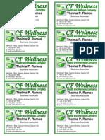 Calling Card CF Wellness