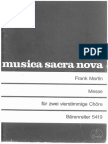 Frank Martin - Messe