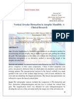 Vertical Alveolar Distraction in Atrophic Mandible- A Clinical Research