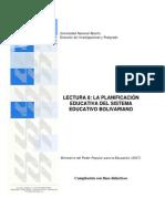 Lectura 8 Planific Educativa Bolivariana La Pregunta
