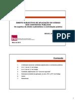 Mód 3 Apres Miguel Assis Raimundo CCP - Âmbito Subjectivo de Aplicação