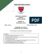 Phys Exam Nov 2013 Gr 11