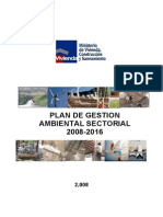 Plan de Gestion Ambiental 2008-2016. Version Final.