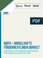 MOFU Empfehlungen Fuer Die Entwicklung Umweltfreundlicher Foerderrichtlinien