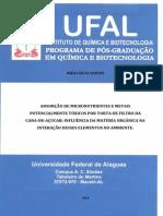 Adsorção de Micronutrientes e Metais Potencialmente Tóxicos Por Torta de Filtro Da Cana-De-Açucar Influência Da Matéria Orgânica Na Interação Desses Elementos No Ambient