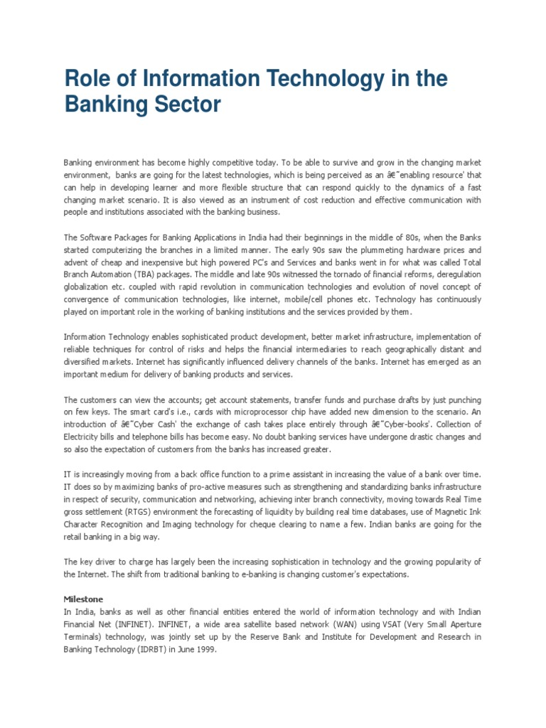 roles of deregulation on banking sector