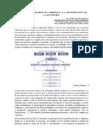 La Evaluacion de Impacto Ambiental y La Dinamización de La Economía