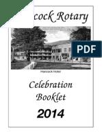 Hancock Rotary Celebration Booklet 2014