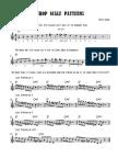 Bebop Scale Patterns - Full Score