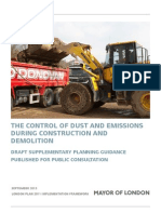 Dust and emissions
